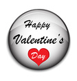 Valentine Button on white backgrounde vector image