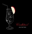 Cocktail with apple vector image vector image