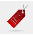 red sale tag isolated vector image vector image