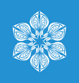 snowflake ornament icon simple style vector image vector image