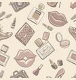 vintage fashion female seamless pattern vector image