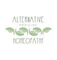 alternative medicine homeopathi logo symbol vector image
