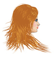 Girl with blone hair vector image