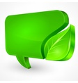 Speech green bubble on white vector image vector image
