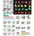 Infographic geometric layouts vector image