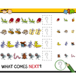 pattern task for preschool kids vector image