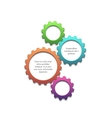 Colorful gears background vector image