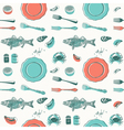 Eat Fish Seafood Pattern Background vector image vector image