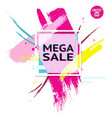 banner with text mega sale for emotion and vector image