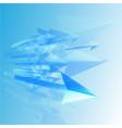 blue arrows coming - vector image