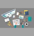 business corporate organization vector image