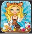 cute tigress bartender vector image
