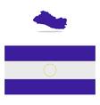 map El Salvador vector image