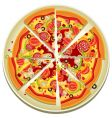Pizza slices on the plate vector image