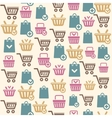 Set of shopping cart icons pattern vector image