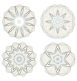 Set of round guilloche rosettes vector image vector image