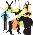 circus silhouettes vector image vector image