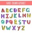 Hand drawn colorful english alphabet vector image