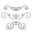 Set of decorative ornament vector image