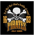 Skull in pirate hat - Jolly Roger vector image