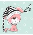 Sleeping cute Puppy vector image vector image