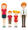 Family with parents and children vector image