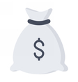 Money Bag with Money vector image