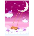 moon swing in sky vector image