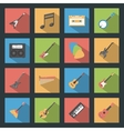 Musical Instruments flat icons set vector image