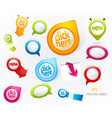 Set of colorful labels vector image