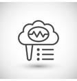 Brain activity line icon vector image