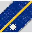 Nauru grunge flag vector image