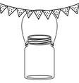 Isolated mason jar design vector image
