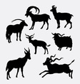 Goat animal silhouette vector image vector image