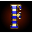 golden and blue letter f vector image vector image