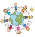 children world over white background vector image