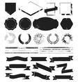 Grunge textured set of vintage styled design vector image vector image