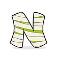 Letter N Monster zombie Alphabetical icon medical vector image