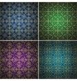 Luxury golden seamless patterns set vector image