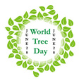 World tree day june 28 vector image