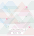abstract triangle pattern background for business vector image