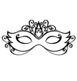Beautiful Masquerade Mask vector image