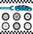 car wheel 01 01 vector image