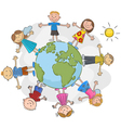 children world over white background vector image