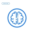 flat line brain icon vector image