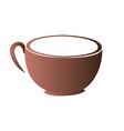 isolated abstract coffee mug logo vector image