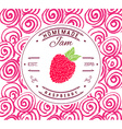 Jam label design template for raspberry dessert vector image