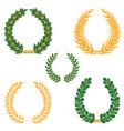laurel wreaths set silhouette symbol collection vector image