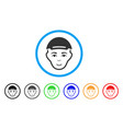 man head rounded icon vector image