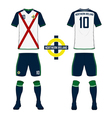 Northern Ireland soccer kit football jersey vector image